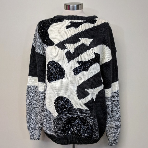 organically grown Sweaters - Sequined Graphic Sweater